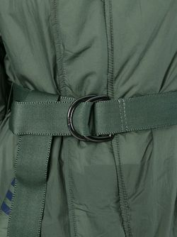 Объемный Пуховик С Поясом Y-3                                                                                                              зелёный цвет