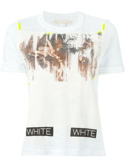 Футболка С Принтом OFF-WHITE                                                                                                              белый цвет