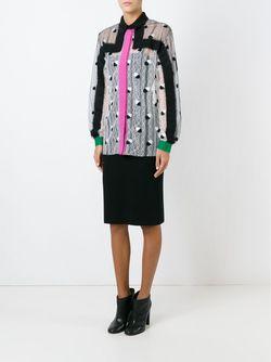 Woollen Appliqué Lace Shirt Marco De Vincenzo                                                                                                              белый цвет