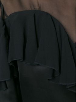 Прозрачная Блузка С Оборкой Christopher Kane                                                                                                              чёрный цвет