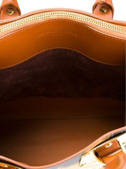 Маленькая Сумка-Тоут Sophie Hulme                                                                                                              коричневый цвет
