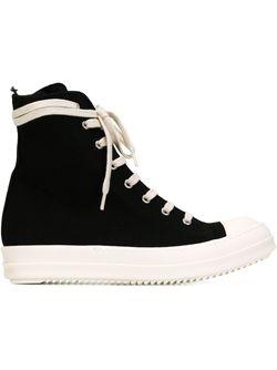 Side Zip Hi-Top Sneakers RICK OWENS DRKSHDW                                                                                                              чёрный цвет