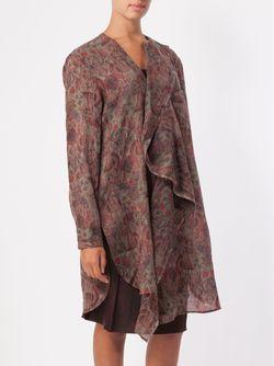 Paisley Print Ruffle Detail Blouse UMA WANG                                                                                                              красный цвет