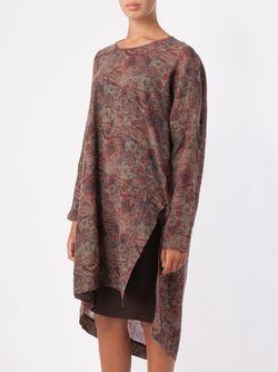 Драпированное Платье-Шифт UMA WANG                                                                                                              красный цвет