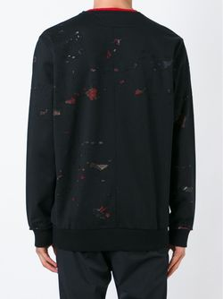 Толстовка С Потертой Отделкой Givenchy                                                                                                              чёрный цвет