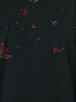 Толстовка С Потертой Отделкой Givenchy                                                                                                              черный цвет