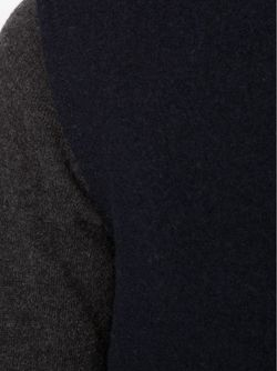 Укороченные Кардиган Колор-Блок Maison Margiela                                                                                                              синий цвет