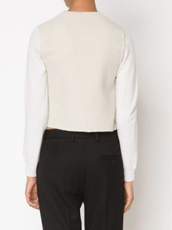 Two-Tone Sweater Maison Margiela                                                                                                              белый цвет