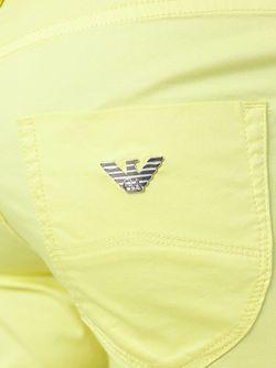 Укороченные Джинсы Кроя Скинни ARMANI JEANS                                                                                                              желтый цвет