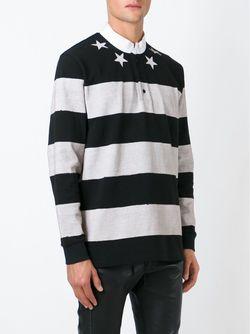 Полосатый Топ Со Звездами Givenchy                                                                                                              черный цвет