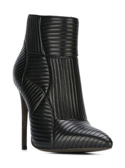 Стеганые Ботинки По Щиколотку GIANNI RENZI                                                                                                              черный цвет