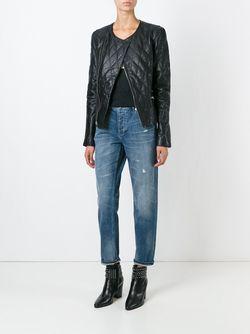 Quilted Biker Jacket Blk Dnm                                                                                                              черный цвет