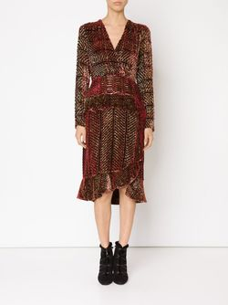 Lurex Velvet Dress Altuzarra                                                                                                              красный цвет