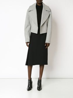 Cropped Notched Collar Jacket Jason Wu                                                                                                              серый цвет