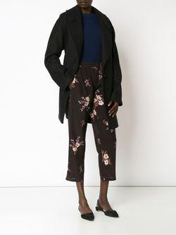 Укороченные Брюки С Цветочным Принтом Nina Ricci                                                                                                              чёрный цвет