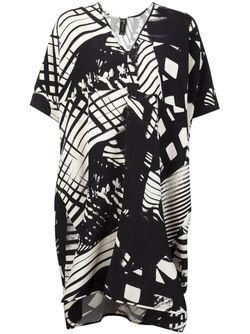 Платье-Туника С Геометрическим Принтом Zero + Maria Cornejo                                                                                                              черный цвет