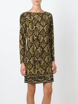 Snake Skin Print T-Shirt Dress Michael Michael Kors                                                                                                              None цвет