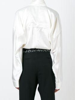 Блузка С Завязками На Бант Haider Ackermann                                                                                                              белый цвет