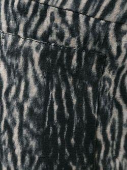 Брюки Кроя Скинни С Леопардовым Принтом Haider Ackermann                                                                                                              черный цвет