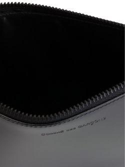 Кошелек На Молнии С Тисненым Логотипом Comme Des Garcons                                                                                                              чёрный цвет