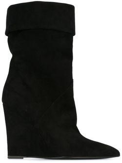 Ботинки На Танкетке Saint Laurent                                                                                                              чёрный цвет