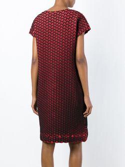 Платье-Шифт С Геометрическим Узором Issey Miyake                                                                                                              красный цвет