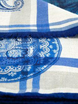 Шарф В Клетку С Принтом Пейсли Etro                                                                                                              синий цвет