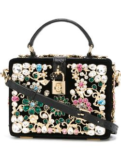 Embellished Cross-Body Bag Dolce & Gabbana                                                                                                              чёрный цвет