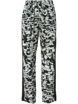 Spray Stripes Trousers Kenzo                                                                                                              черный цвет
