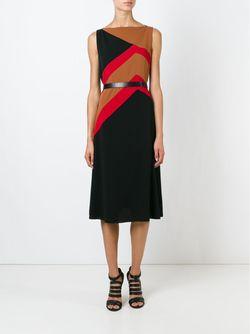 Платье С Геометрическим Принтом Salvatore Ferragamo                                                                                                              черный цвет