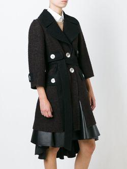 Однобортное Пальто С Поясом Marc Jacobs                                                                                                              коричневый цвет