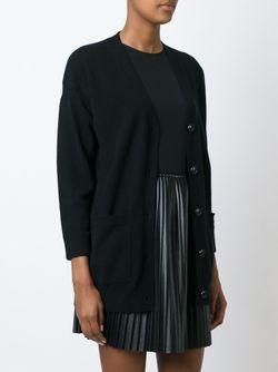 Кардиган C V-Образным Вырезом Burberry Brit                                                                                                              чёрный цвет