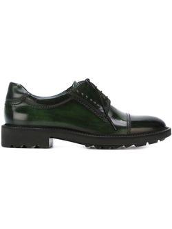 Туфли Lamber На Шнуровке Salvatore Ferragamo                                                                                                              зелёный цвет