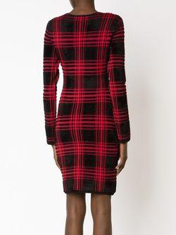 Платье В Шотландскую Клетку Alexander Wang                                                                                                              черный цвет