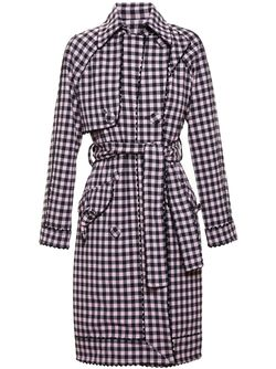 Gingham Trench Coat ADAM SELMAN                                                                                                              чёрный цвет