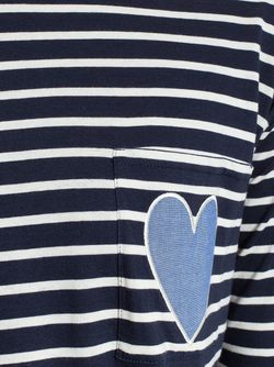 Striped Heart T-Shirt Chinti And Parker                                                                                                              синий цвет