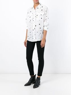 Рубашка Со Звездами Equipment                                                                                                              белый цвет