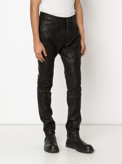 Waxed Effect Paneled Trousers JULIUS                                                                                                              чёрный цвет