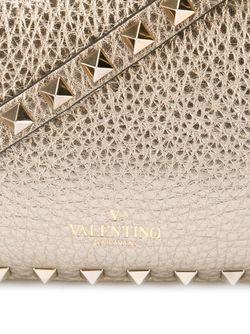 Сумка-Тоут Rockstud В Форме Трапеции Valentino Garavani                                                                                                              серебристый цвет
