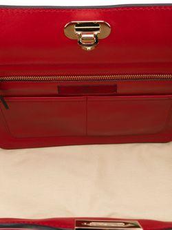 Сумка-Тоут Rockstud В Форме Трапеции Valentino Garavani                                                                                                              красный цвет