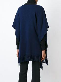 Пончо С Бахромой Agnona                                                                                                              синий цвет