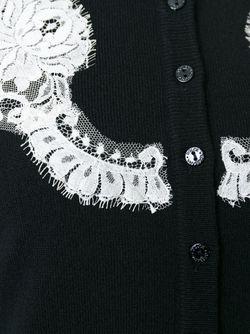 Кардиган С Кружевными Деталями Dolce & Gabbana                                                                                                              синий цвет