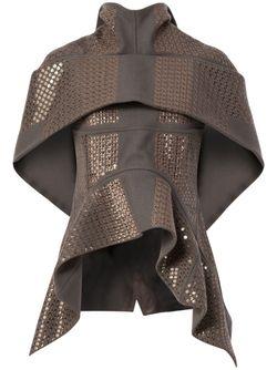 Sequinned Asymmetric Jacket Rick Owens                                                                                                              серый цвет