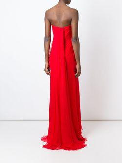 Драпированное Платье Alexander McQueen                                                                                                              красный цвет
