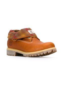 Ботинки С Отворотом В Клетку Timberland                                                                                                              коричневый цвет