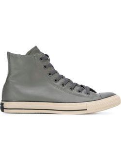 Высокие Кеды Converse                                                                                                              серый цвет