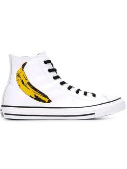 Высокие Кеды Andy Warhol Converse                                                                                                              белый цвет
