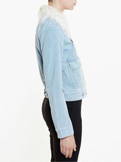 Shearling Corduroy Jacket Chloe                                                                                                              синий цвет