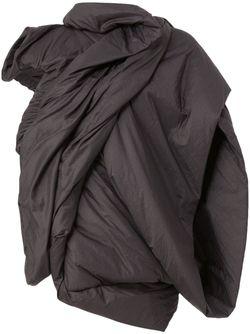 Padded Draped Jacket Rick Owens                                                                                                              черный цвет