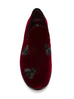 Bee Embroidery Slippers Dolce & Gabbana                                                                                                              красный цвет